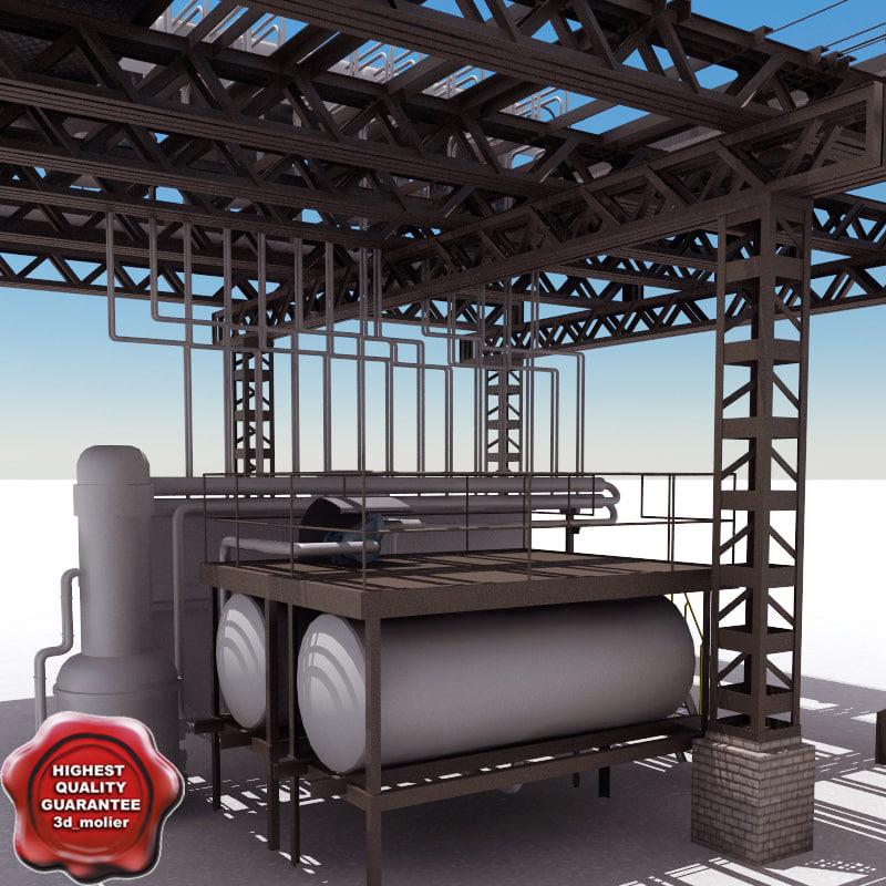 3d model of factory v4