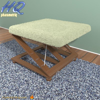 3d model footstool 01