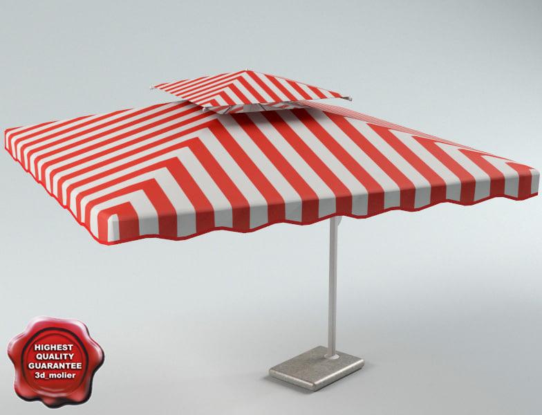 garden umbrella v1 3ds