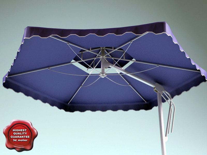 garden umbrella v2 3d 3ds