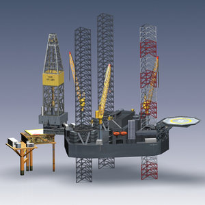 3ds max offshore oil rig