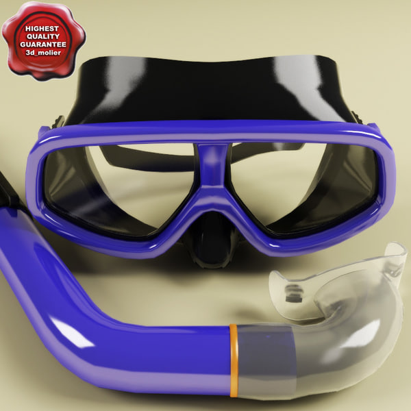 mask tube diving 3d model