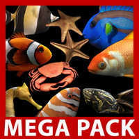 Mega Water Pack (9 Rigged Models)