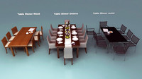 3 Dinner Table collection with chairs