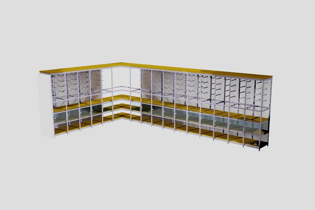 3d shelving unit model