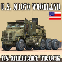 military truck woodland oshkosh 3d model
