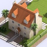 residential block 3d model