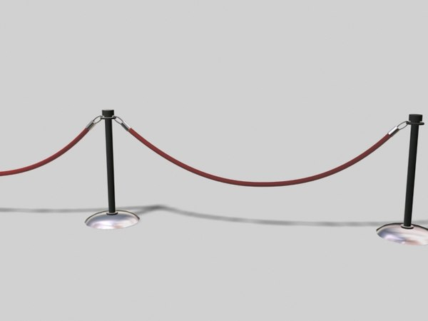 free barriar rope 3d model