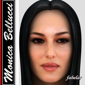head monica bellucci hair 3d model