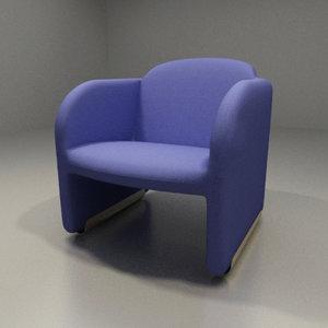 artifort chair design pierre paulin 3ds