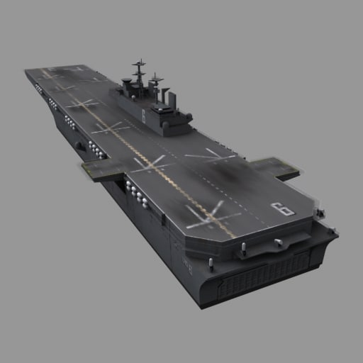3d model uss bonhomme richard lhd