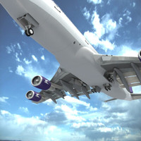 747-400 aerolineas argentinas 3d model