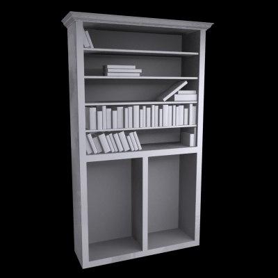 3d book case