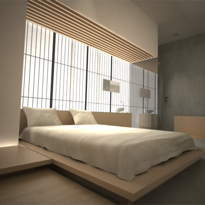 max contemporary modern japanese bedroom