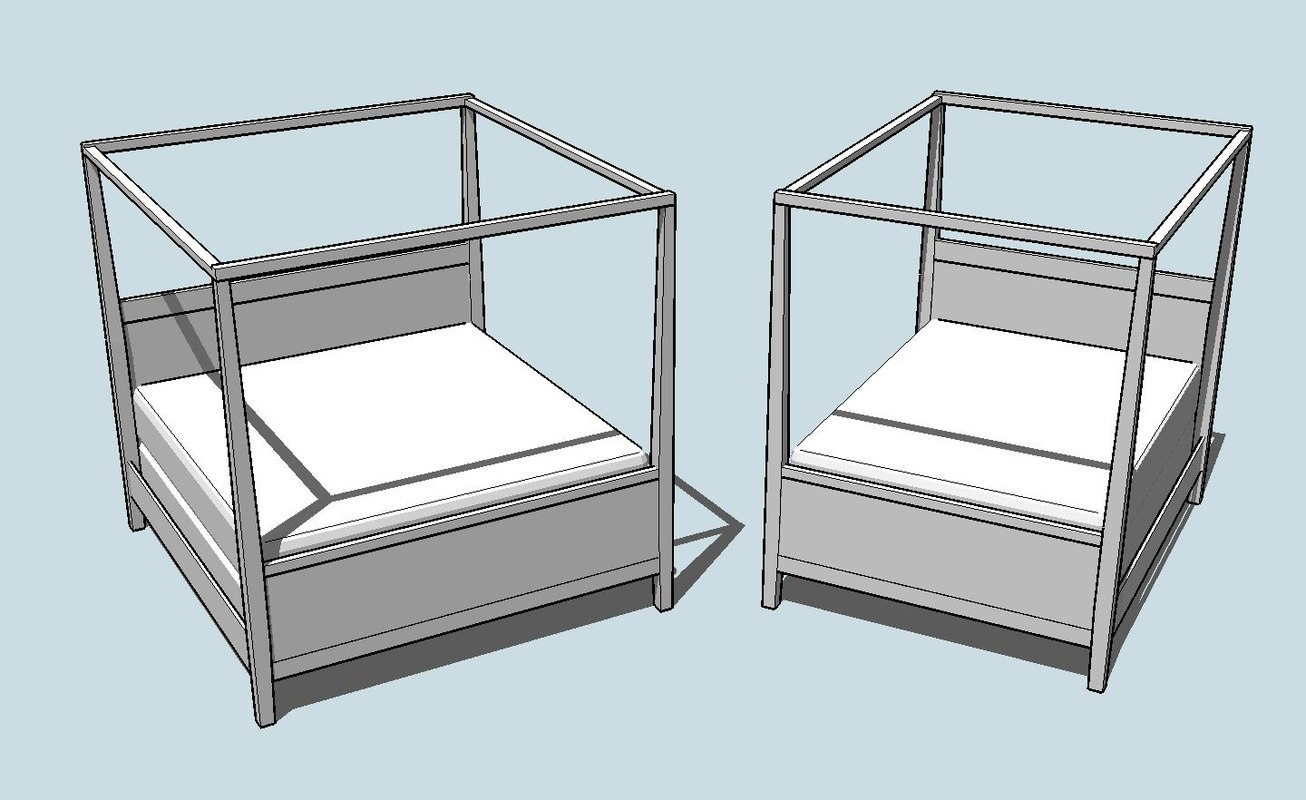 kit contemporary canopy beds 3d 3ds