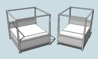 Contemporary Canopy Bed Kit