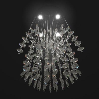 3d model hanging chandelier lighting
