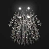 3d model hanging chandelier lighting