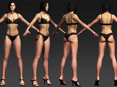 3d ashley female rigged