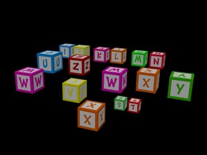 numbers chars 3d model