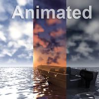 3d model ocean scenes