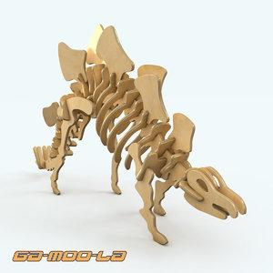 3d wooden dinosaur