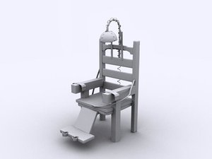 old electric chair 3d 3ds