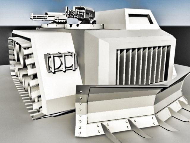 3d model of warhammer tank