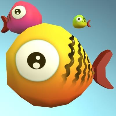 3d max fish animation