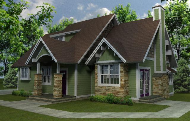 3d model house dwelling