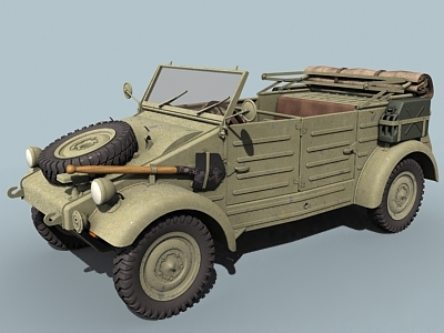 wwii german kubelwagen open 3d 3ds