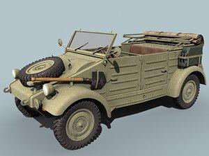 wwii german kubelwagen open 3d 3ds