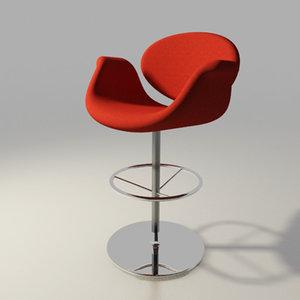 artifort chair design pierre paulin 3d 3ds