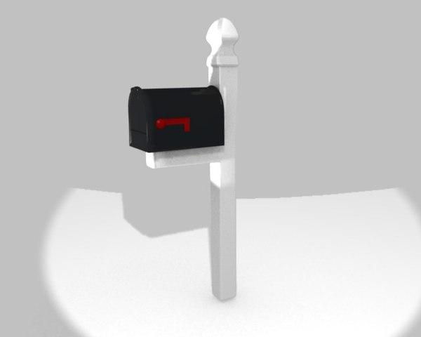 3d model mail mailbox