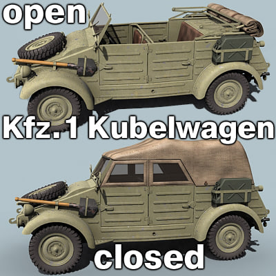 wwii german kubelwagen 3ds