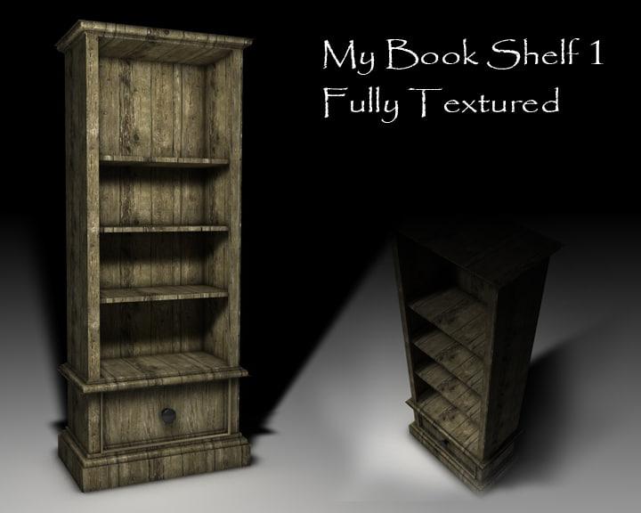book shelf c4d