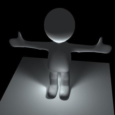 3d model mr blob character