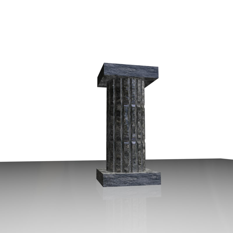 old column stone 3d 3ds