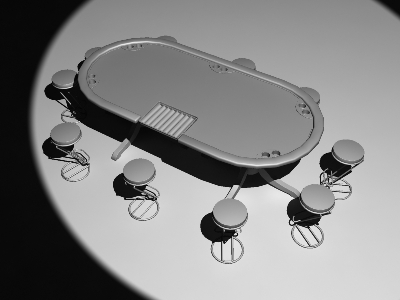 poker table 3d max