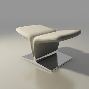 3d 3ds artifort chair design pierre paulin