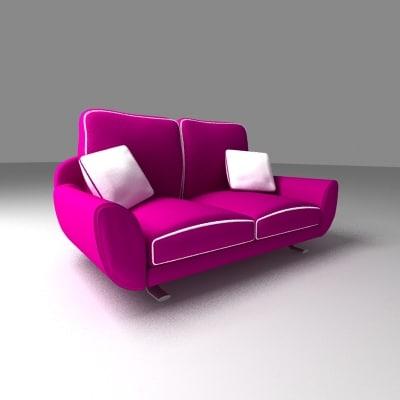 3ds max retro sofa