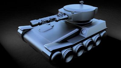 3d futuristic tank