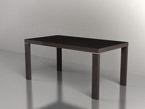 3ds max table moro oak tavolo
