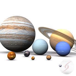 planetas solar planets 3d model