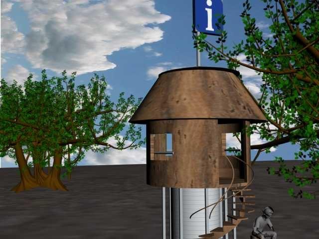 3d model shelter park
