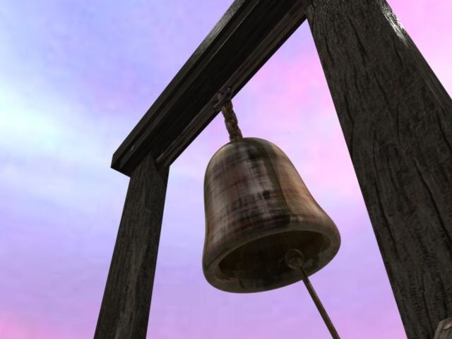 3d model rusting bell stand