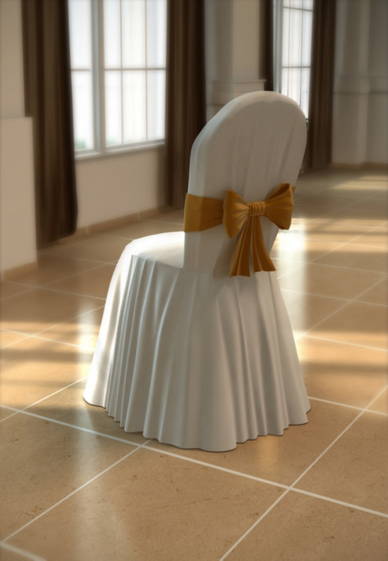 3d model chair weddings
