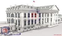 3d model white house complex