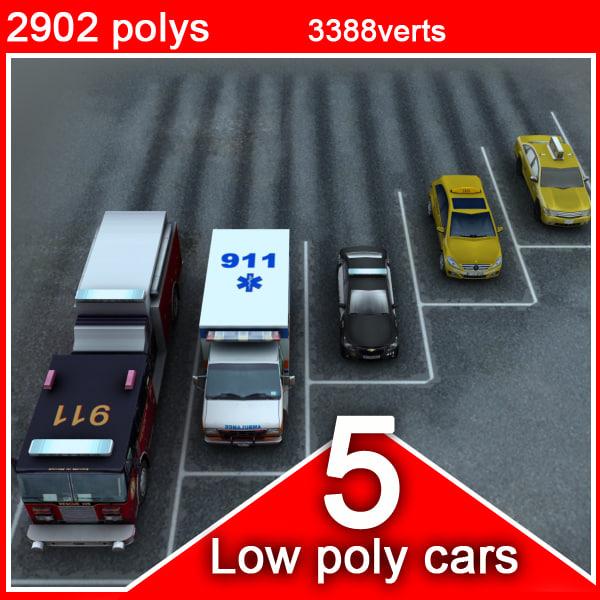 5 social vehicles cars 3d xsi