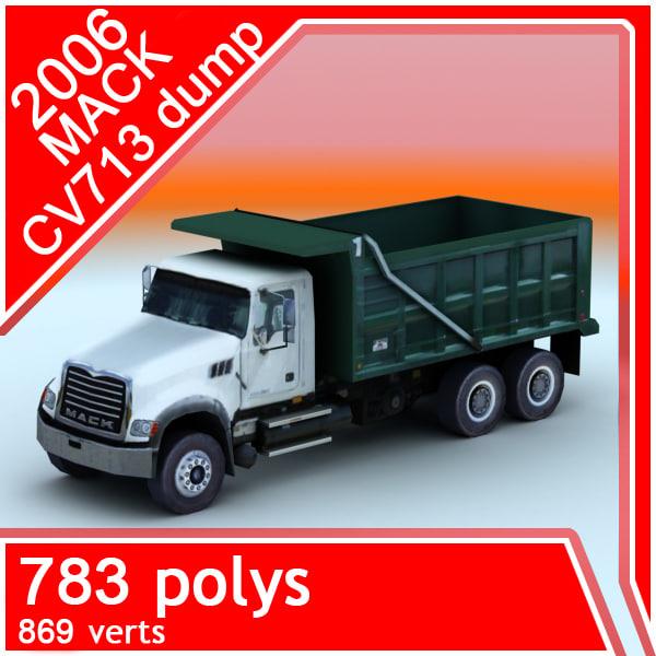 3d model 2006 mack cv713